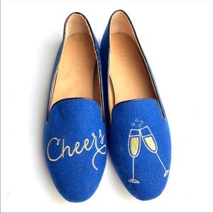 NWOT J. Crew Cheers Champagne Loafers 7.5